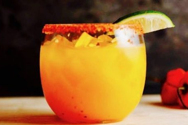 This is a picture of a mango based cocktail as it appears on http://www.jozutravel.com